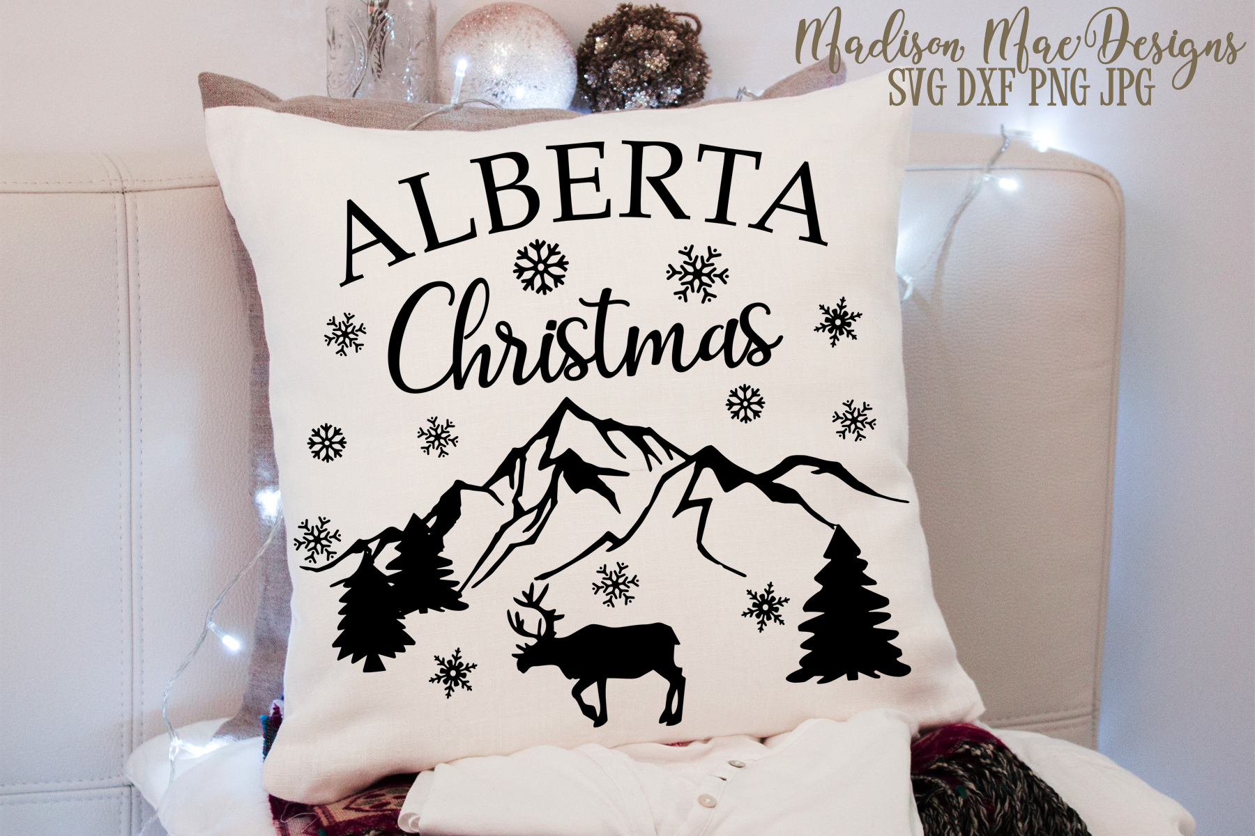 Alberta Christmas SVG, Christmas Cut File example image 2