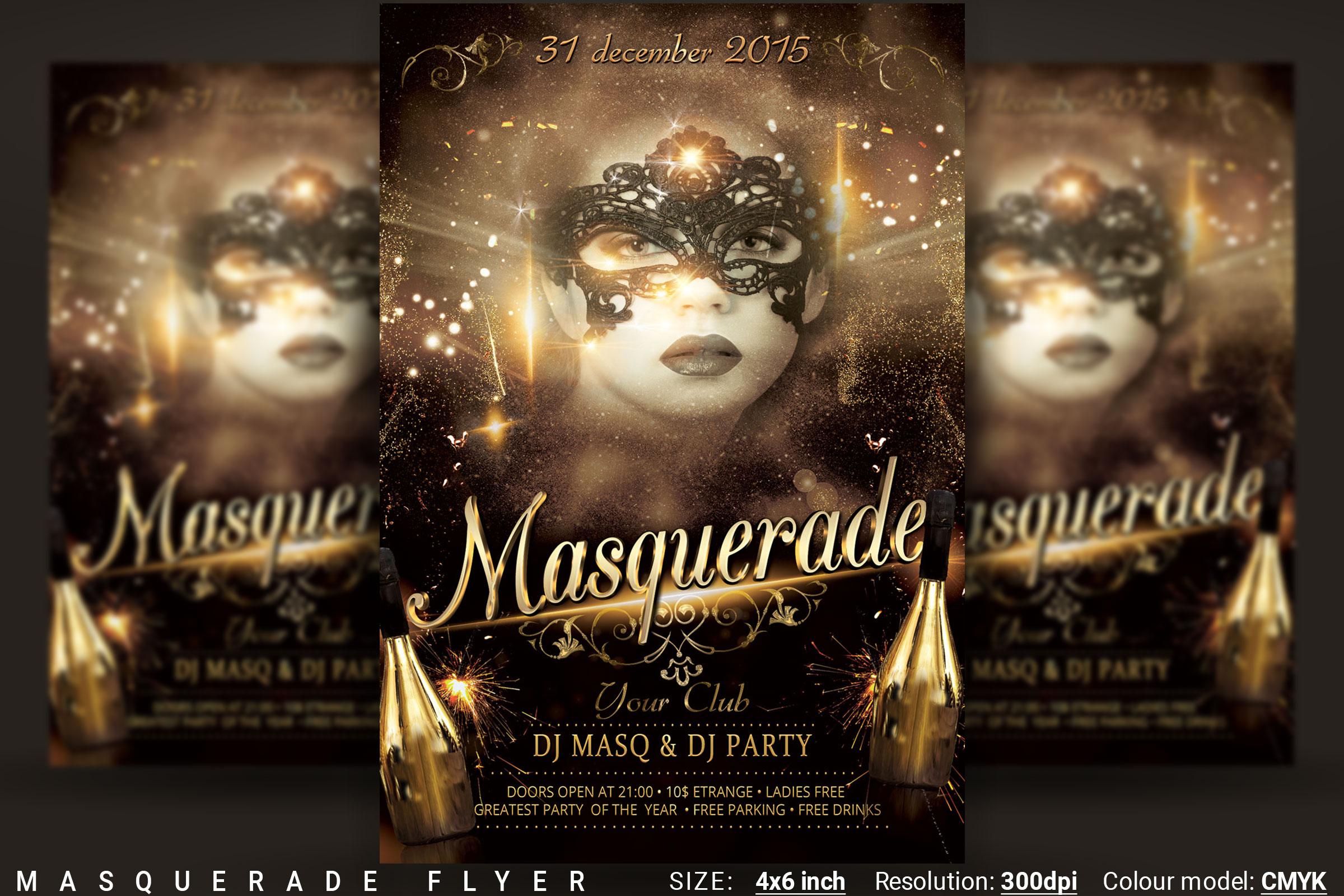 Masquerade Flyer example image 1