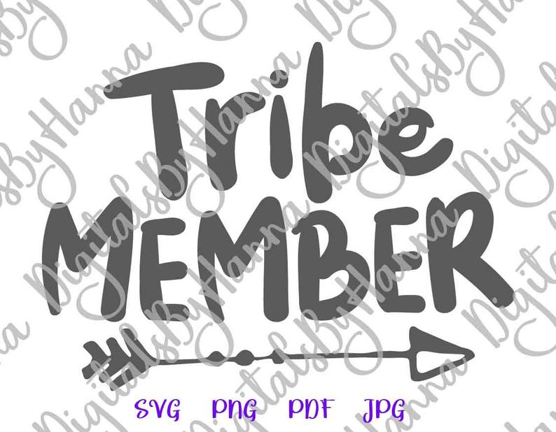 Tribe Member Sign With Tribal Arrow Print & Cut PNG SVG File example image 5