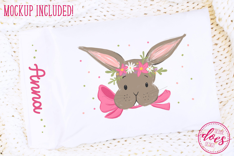 Easter Bunny Pillowcase Design & Mockup Bundle! example image 5