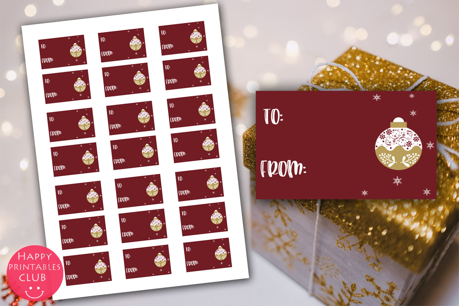 Christmas Cards-Gift Tags-Labels/Holiday Cards Tags Labels example image 10
