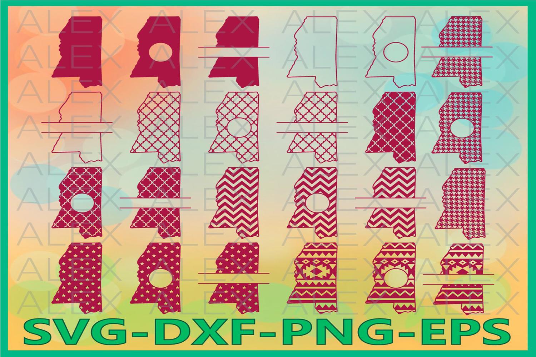 Mississippi State SVG, Mississippi SVG files for Cricut example image 1