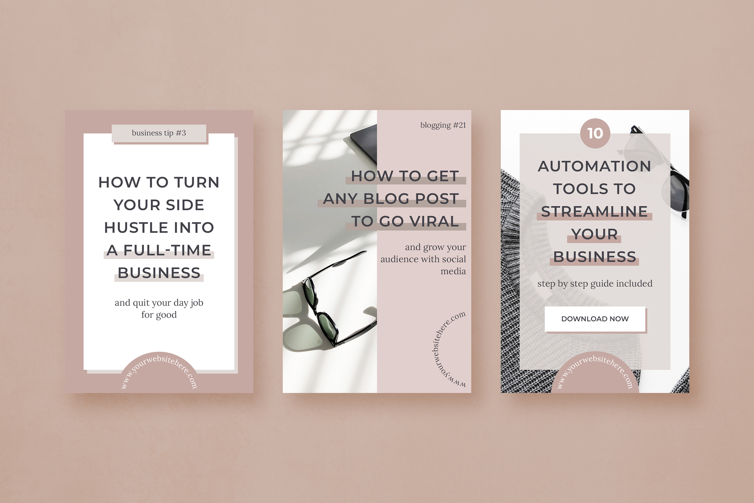 Pinterest marketing graphics template pack example image 4