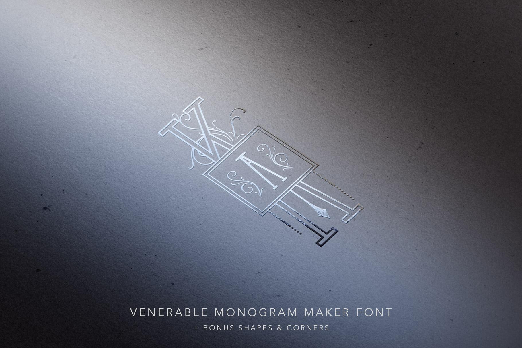 Venerable Monogram Maker Font example image 7