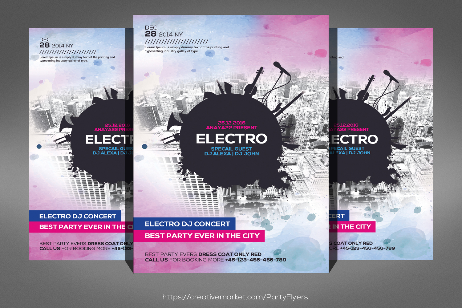 Electro Dj Flyer Template example image 1