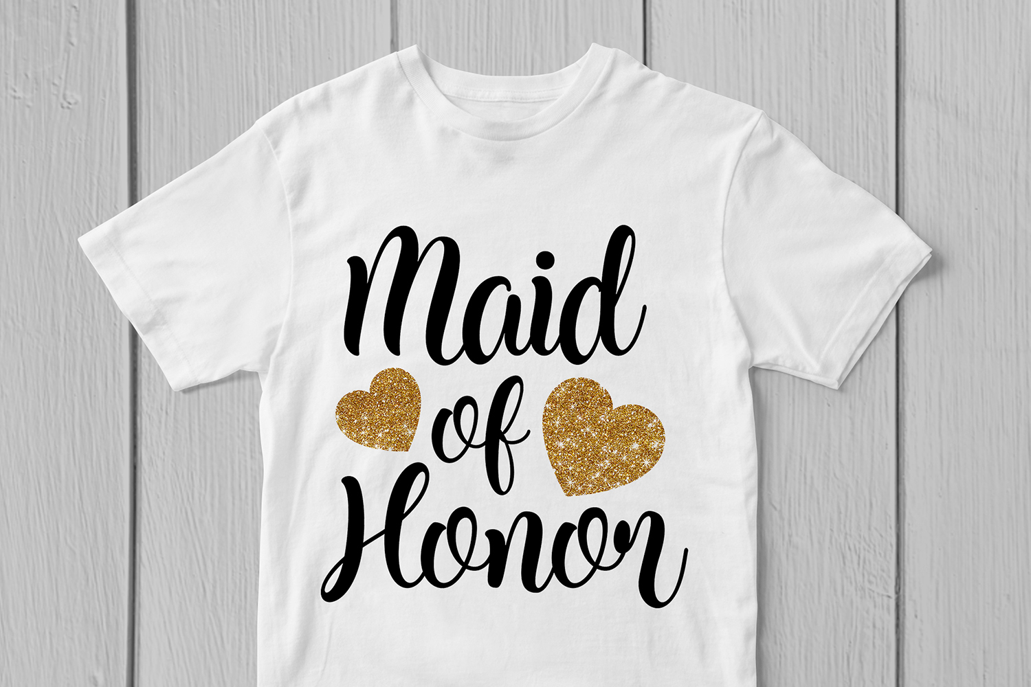 Maid Of Honor - Wedding SVG EPS DXF PNG Cutting Files example image 3