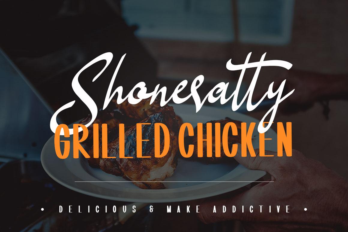 Shoneratty Chika Typeface example image 2