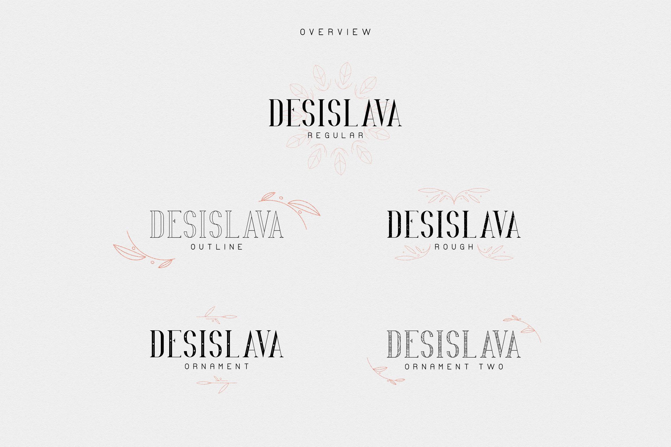 Desislava Luxurious Typeface Bonus example image 2