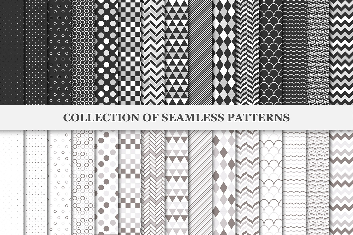 Collection of seamless patterns. example image 1