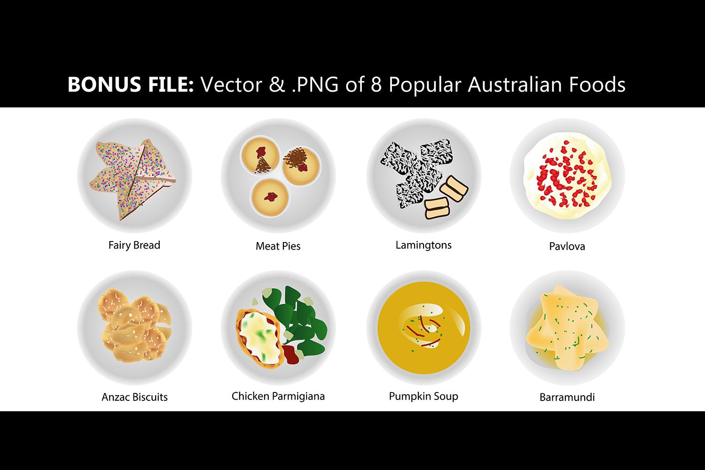 Australian Cuisine Food Seamless Pattern Bundle example image 8