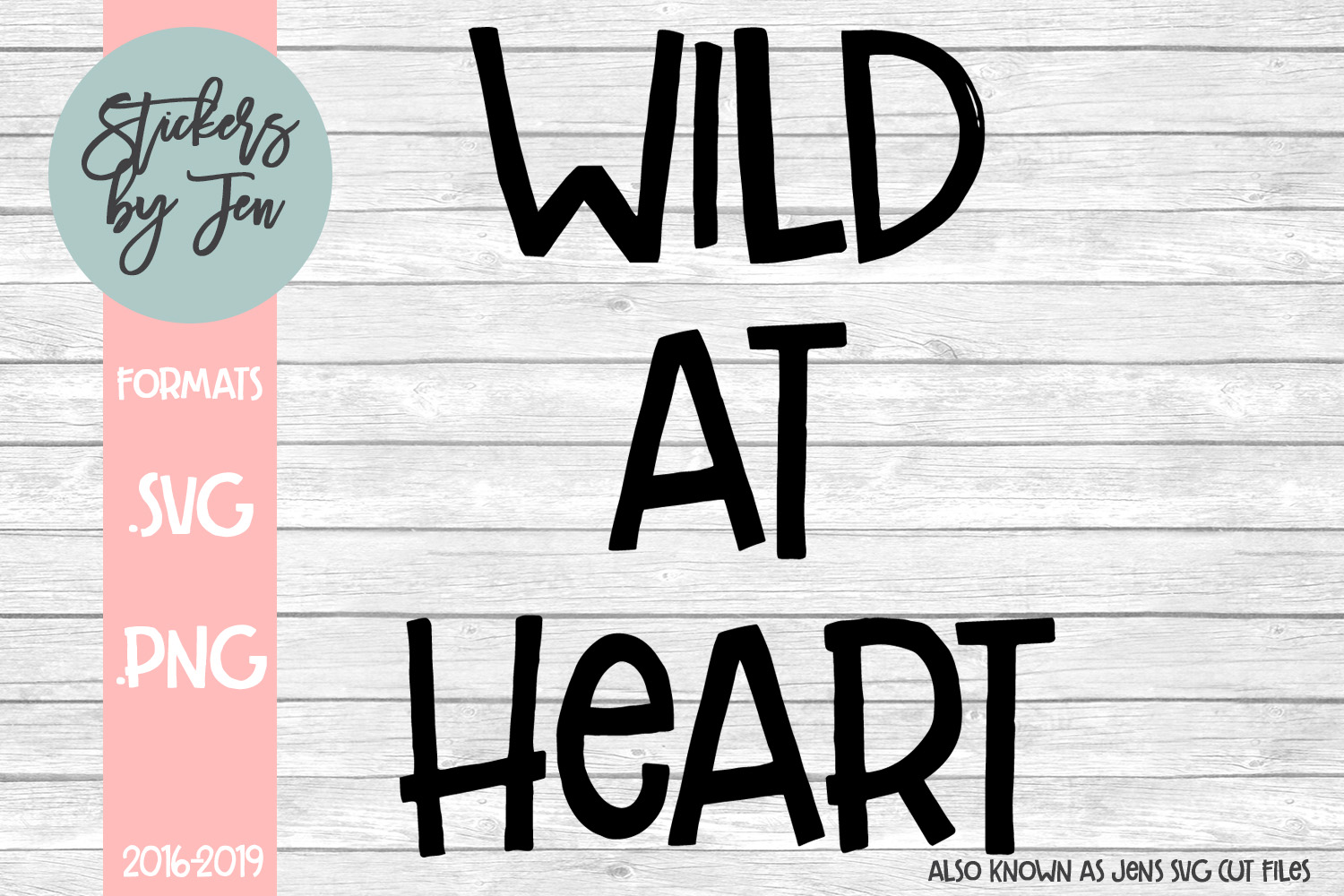 Wild At Heart SVG Cut File example image 1