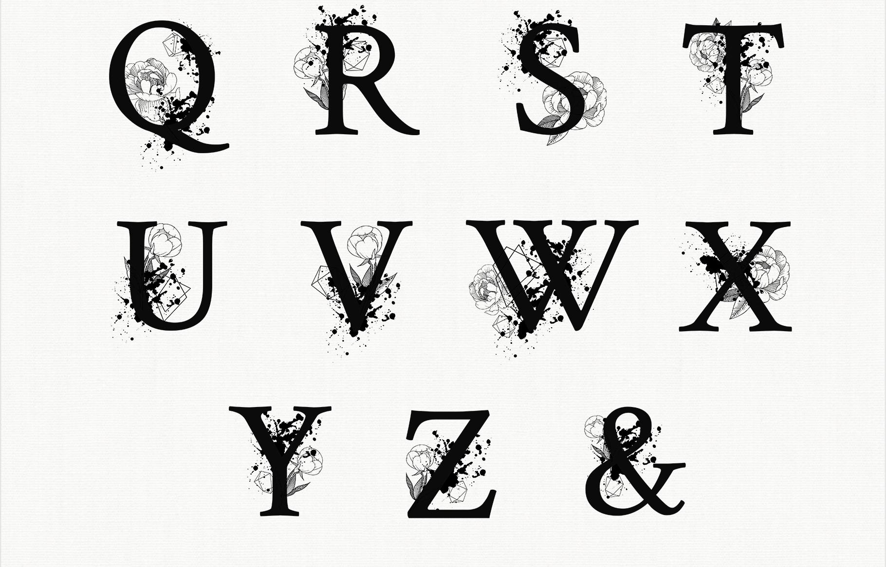 Split Letters A-Z SVG, Alphabet Letters A-Z example image 4