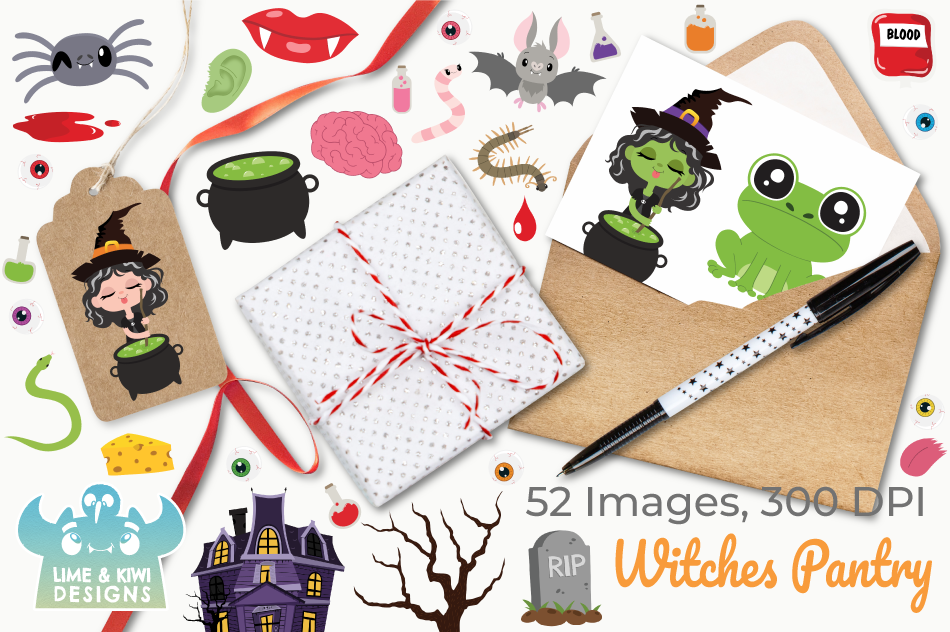 Witches Pantry Clipart, Instant Download Vector Art example image 4