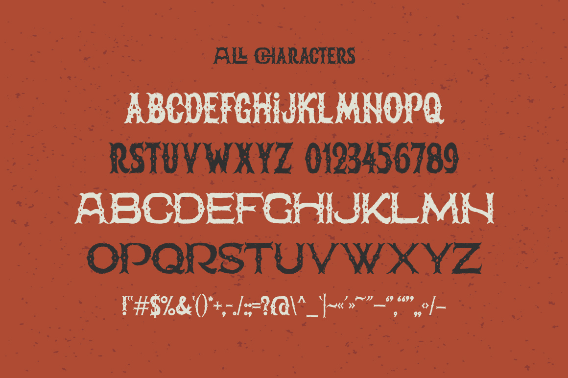 The Freaky Circus font example image 2
