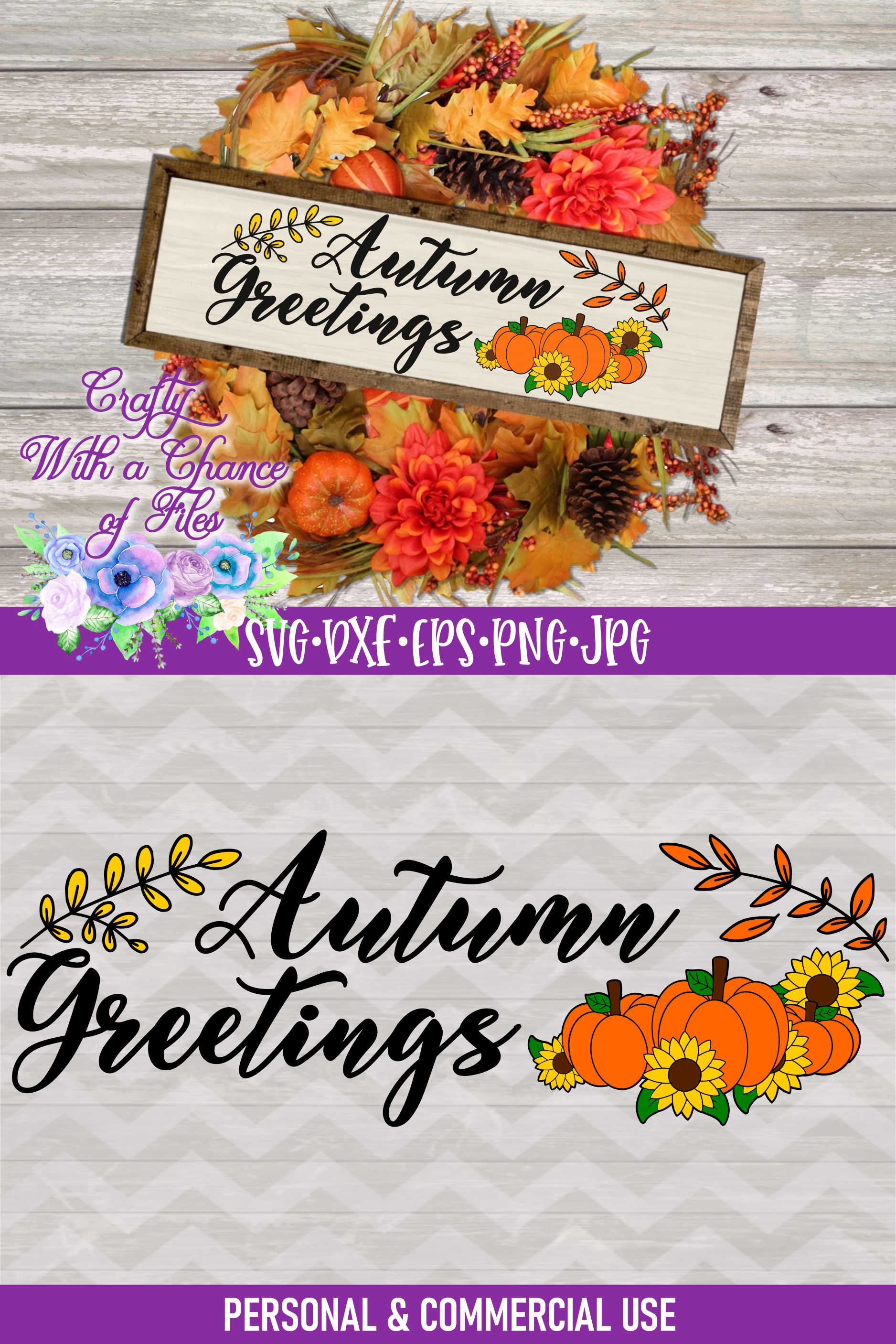 Autumn Greetings SVG   Autumn Sign SVG   Fall Farmhouse SVG example image 4