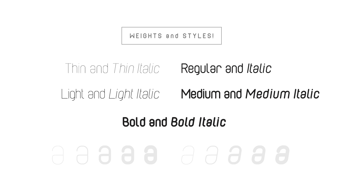 Cabo Rounded Font Family example image 3
