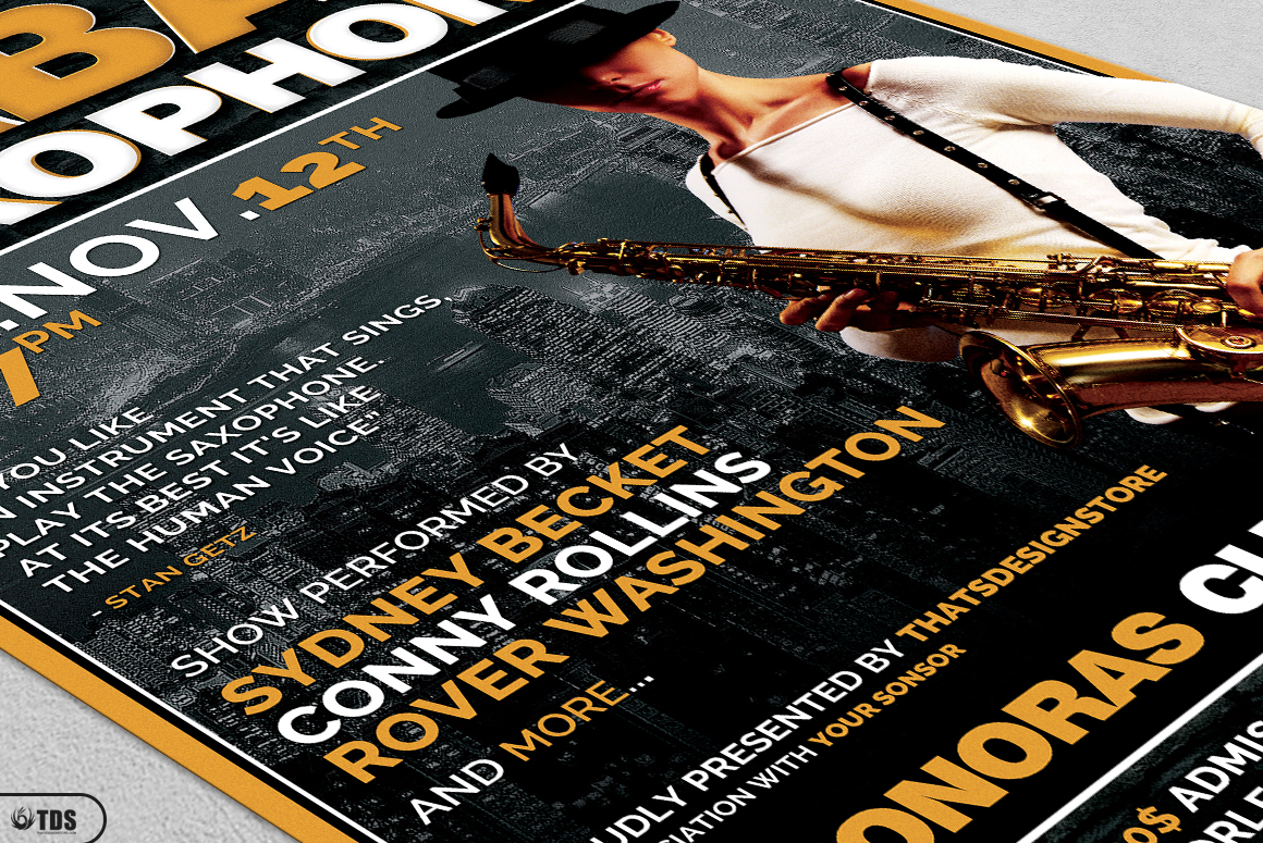 Urban Sax Flyer Template example image 5