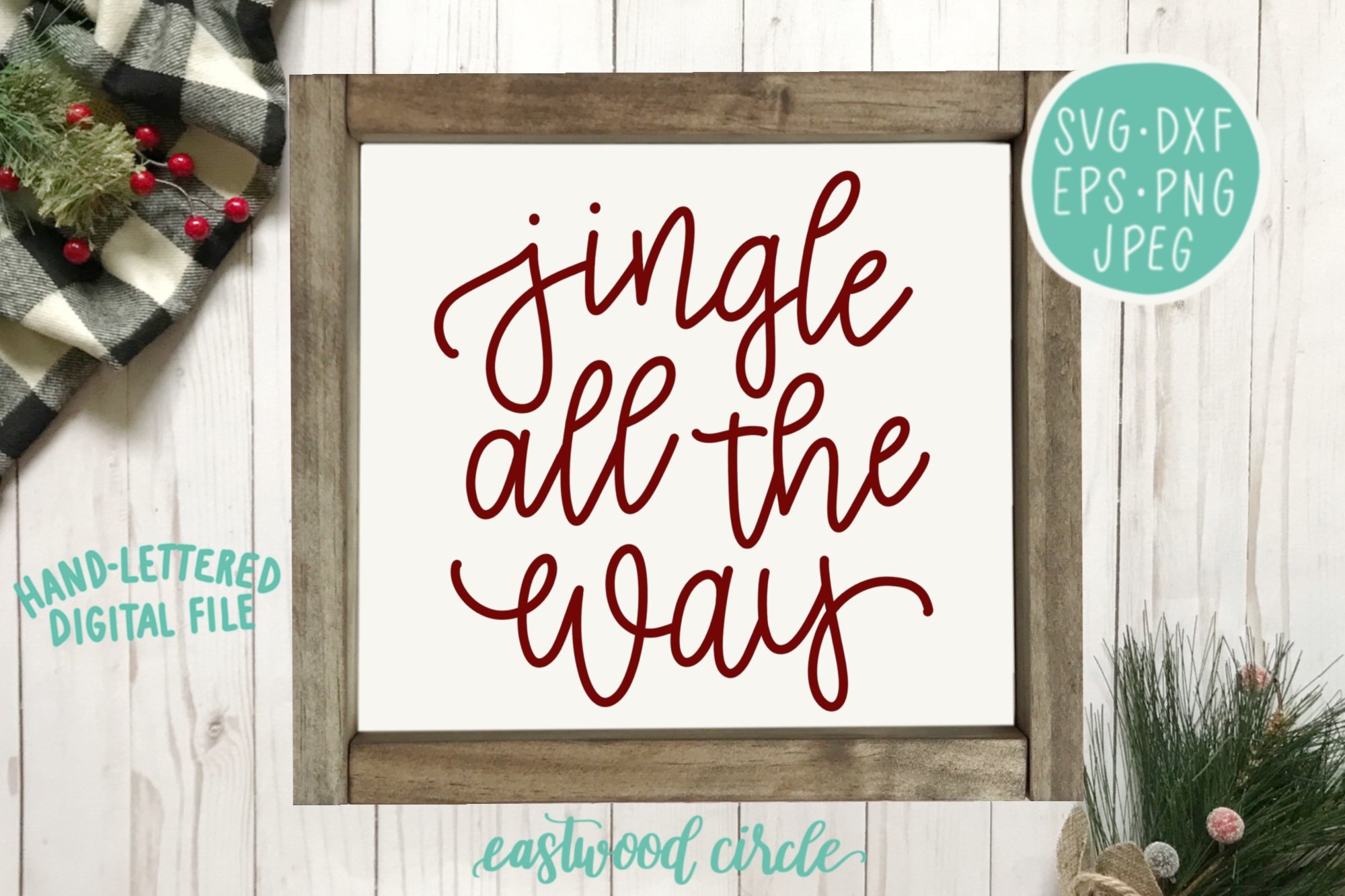 Christmas SVG Bundle - Hand Lettered SVG Files for Signs example image 3