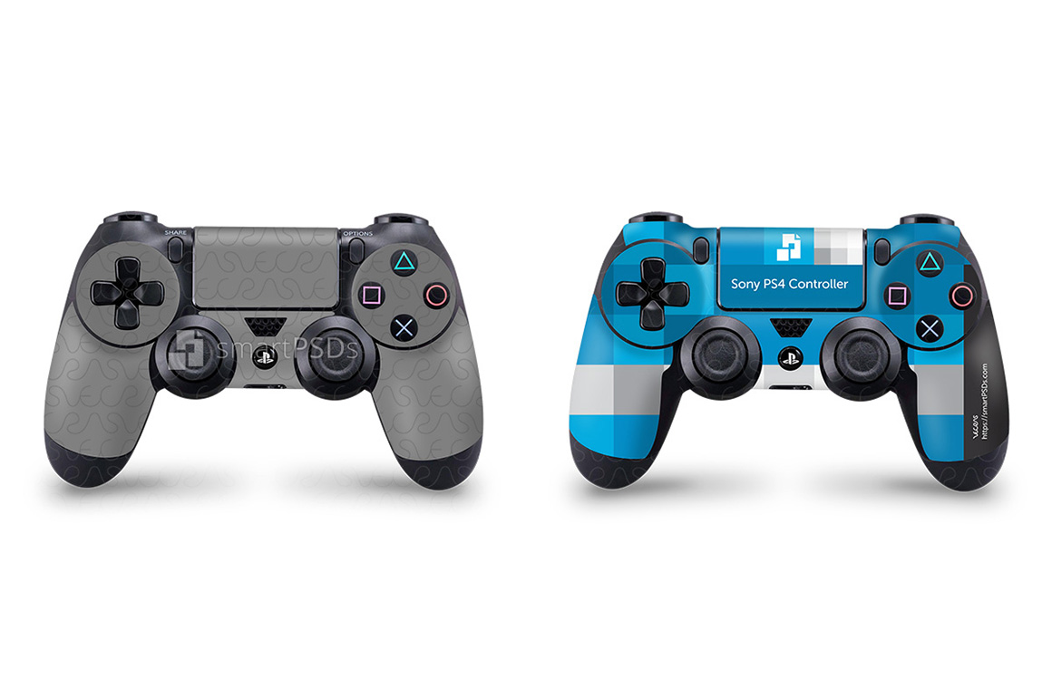 Sony PS4 Controller Skin Design Template example image 2