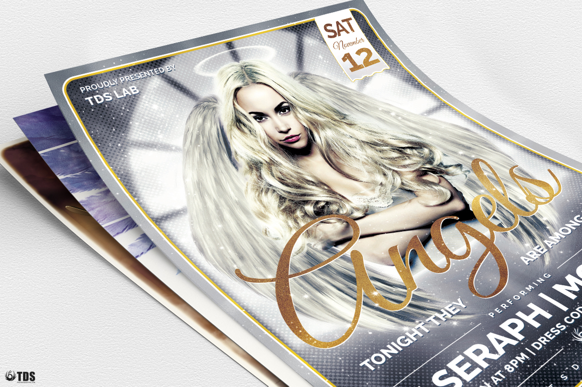 Angels Party Flyer Bundle example image 7