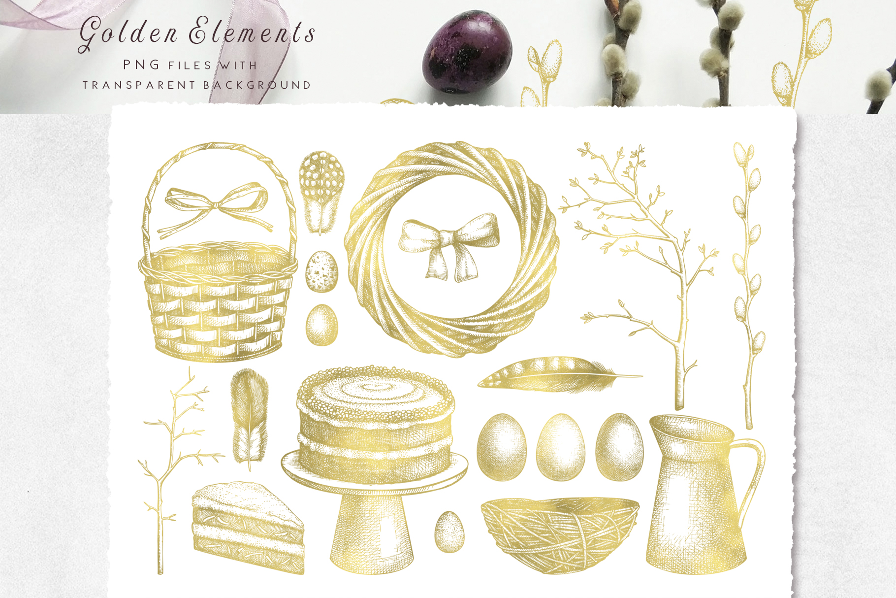 Hand Drawn Easter Design Elements example image 10
