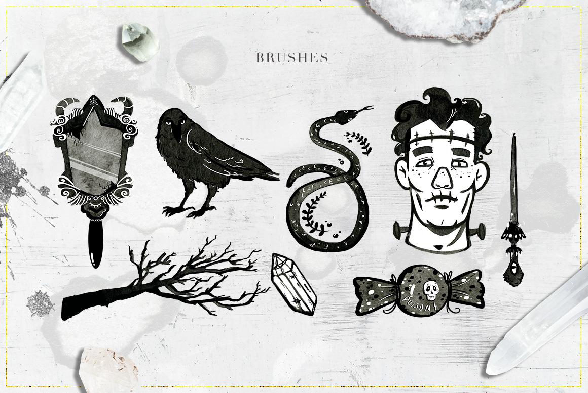75 Witchcraft Photoshop Brushes example image 8