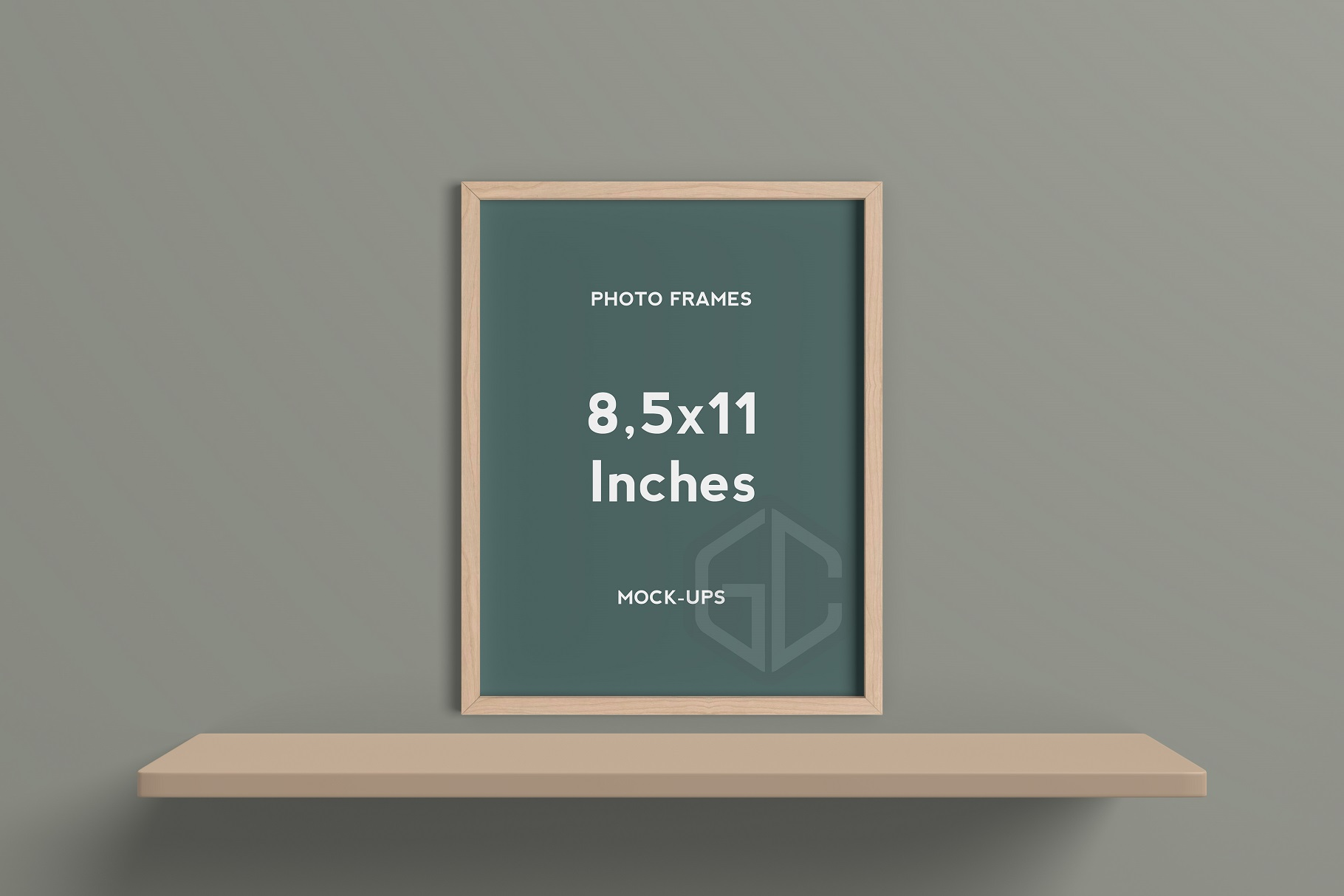 8,5x11 Inches Frame Mockup example image 5