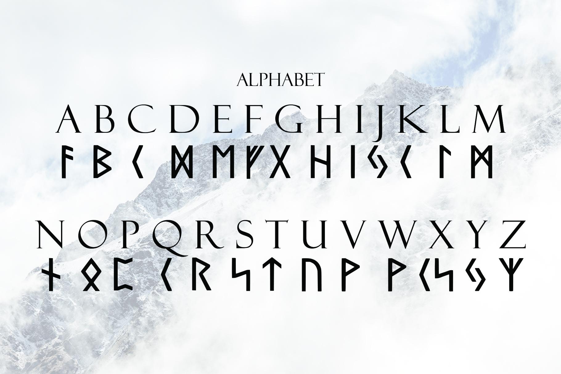 Norse Elder Futhark Typeface example image 4