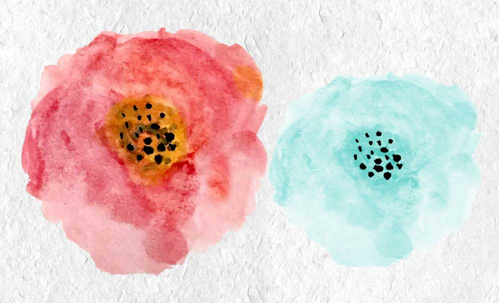 Watercolor Summer Flowers example image 3