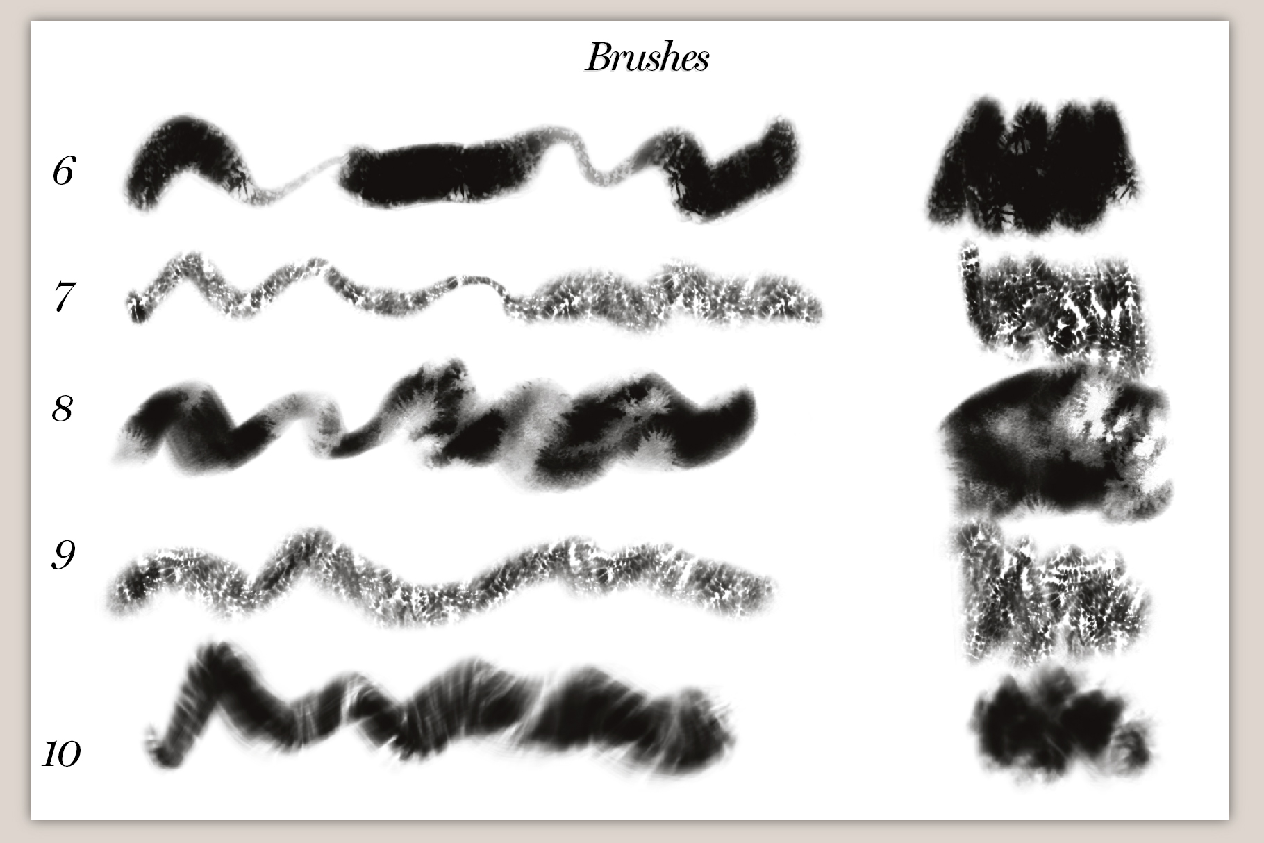 40 Artistic Painting Brushes for Procreate example image 4