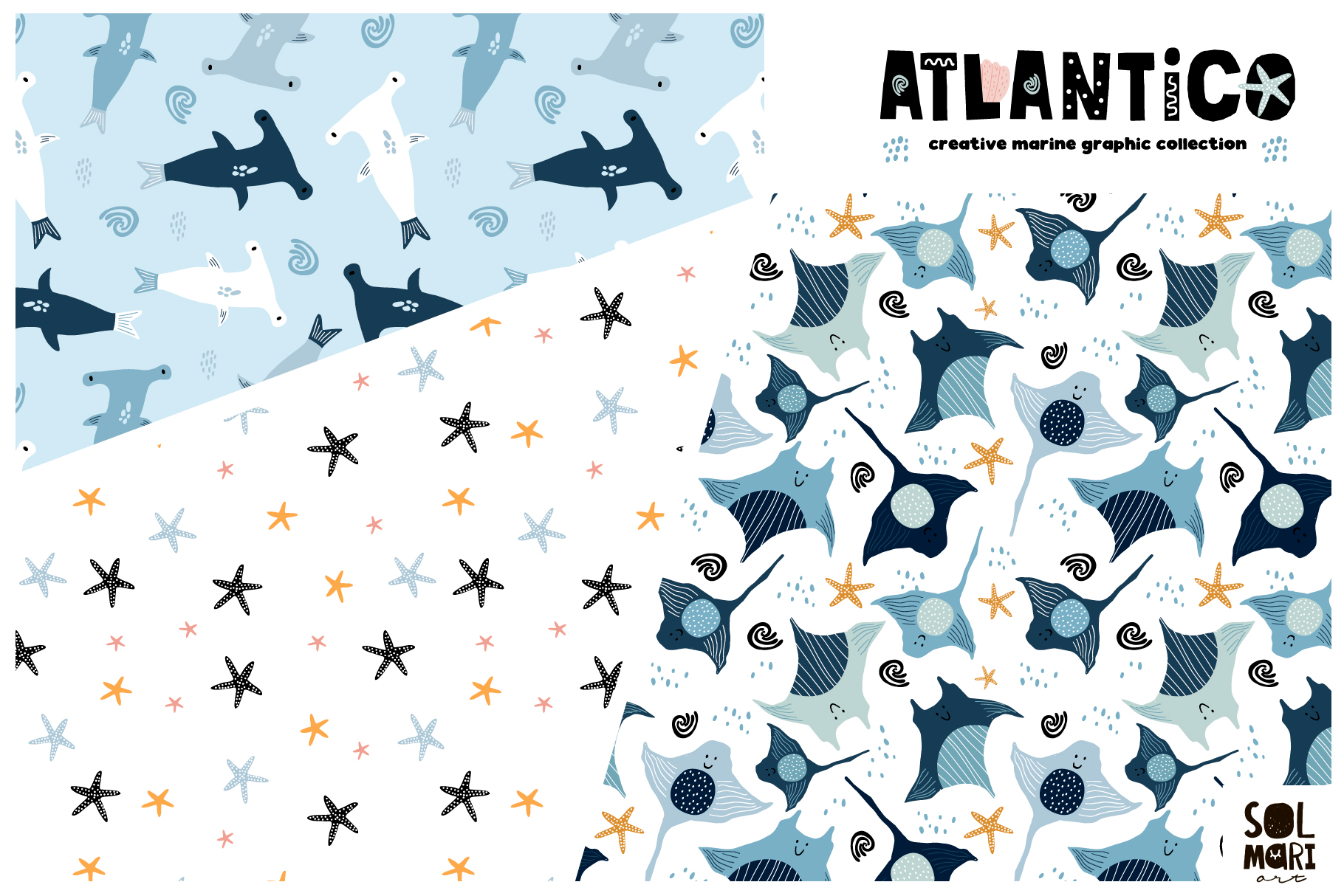 ATLANTICO. Marine graphic collection example image 3