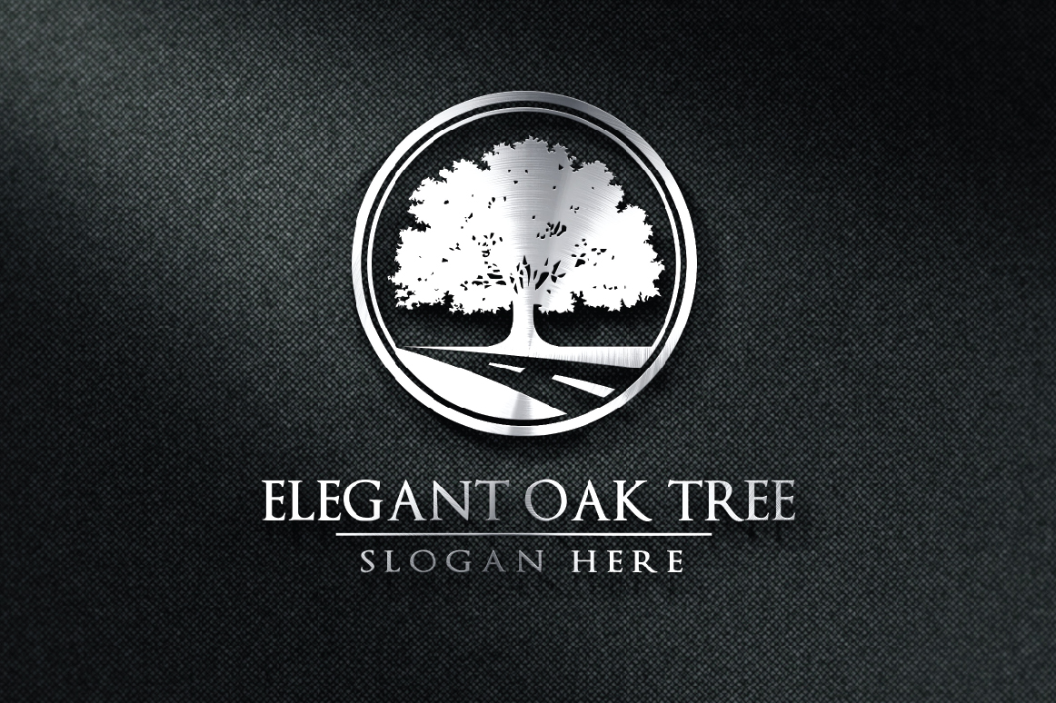 Green Oak Tree Logo vol 2 example image 2