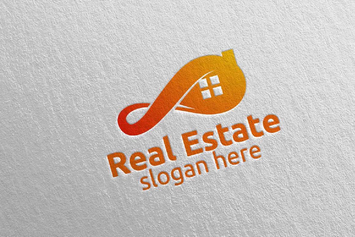Real Estate Infinity Logo Design 36 example image 2