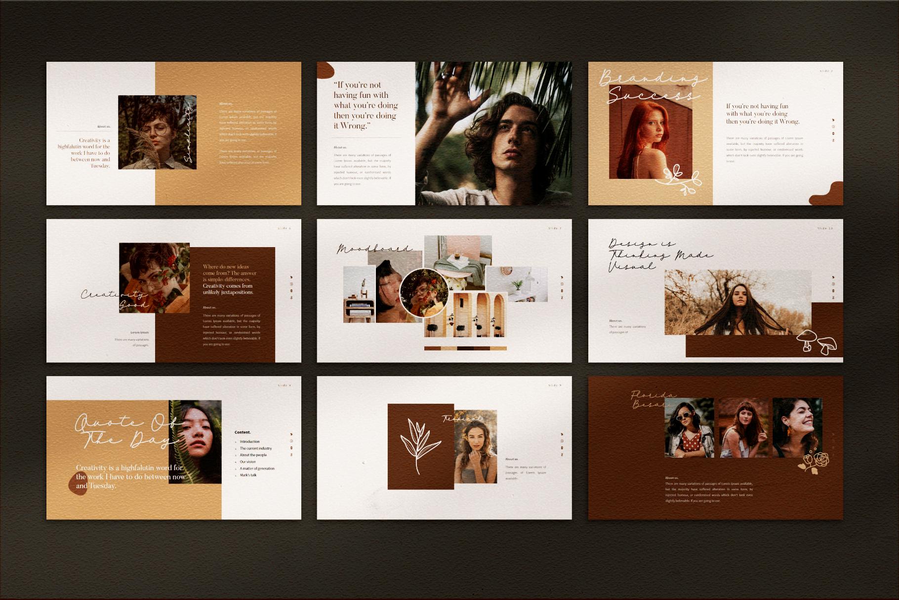VIersa Creative Presentation Template example image 8