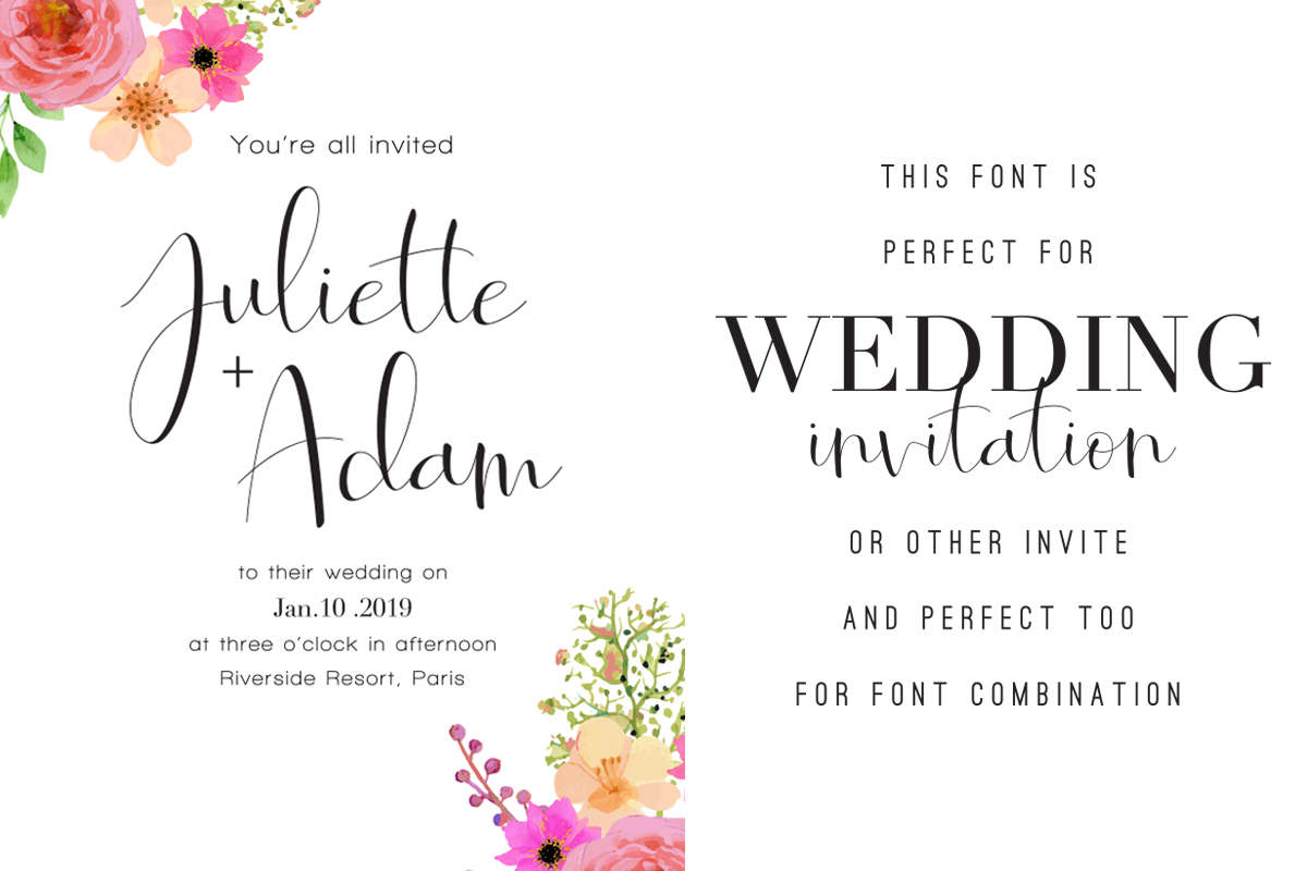 Roselyne Calligraphy Script Font example image 4