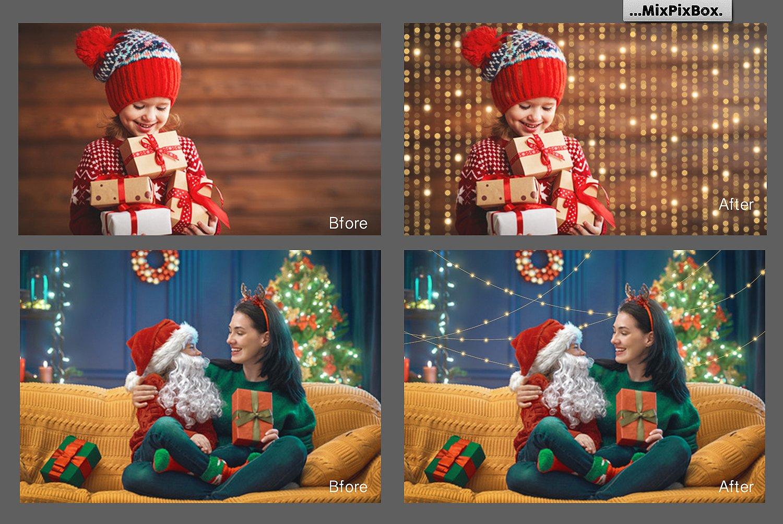 Christmas Lights Golden Glow example image 4