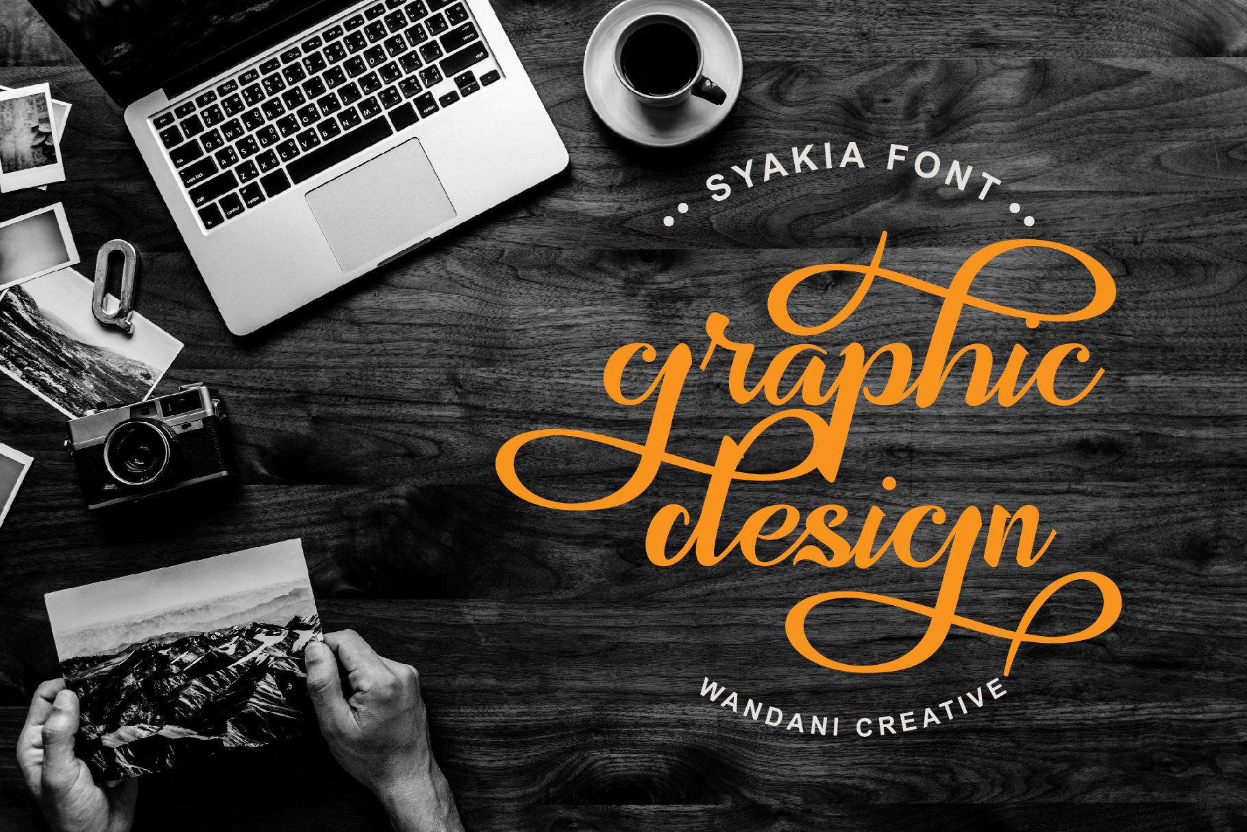 Syakia | New Calligraphy Font example image 3