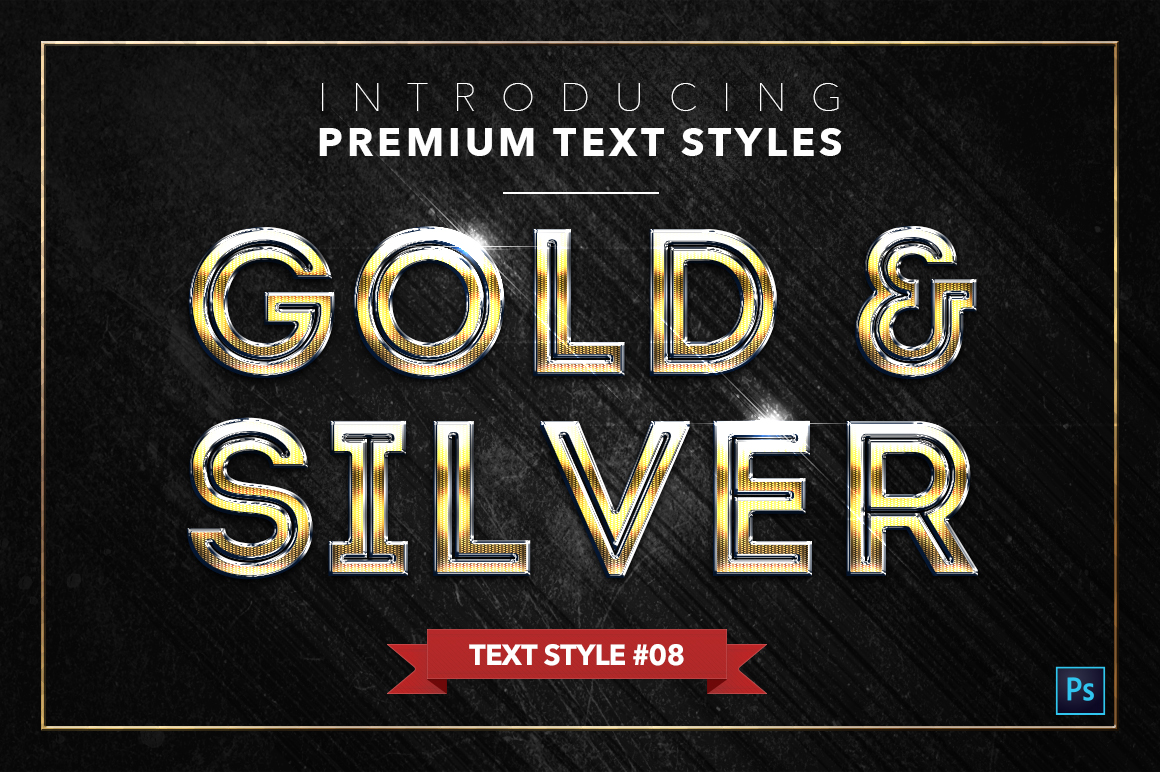 Gold & Silver #2 - 20 Text Styles example image 16
