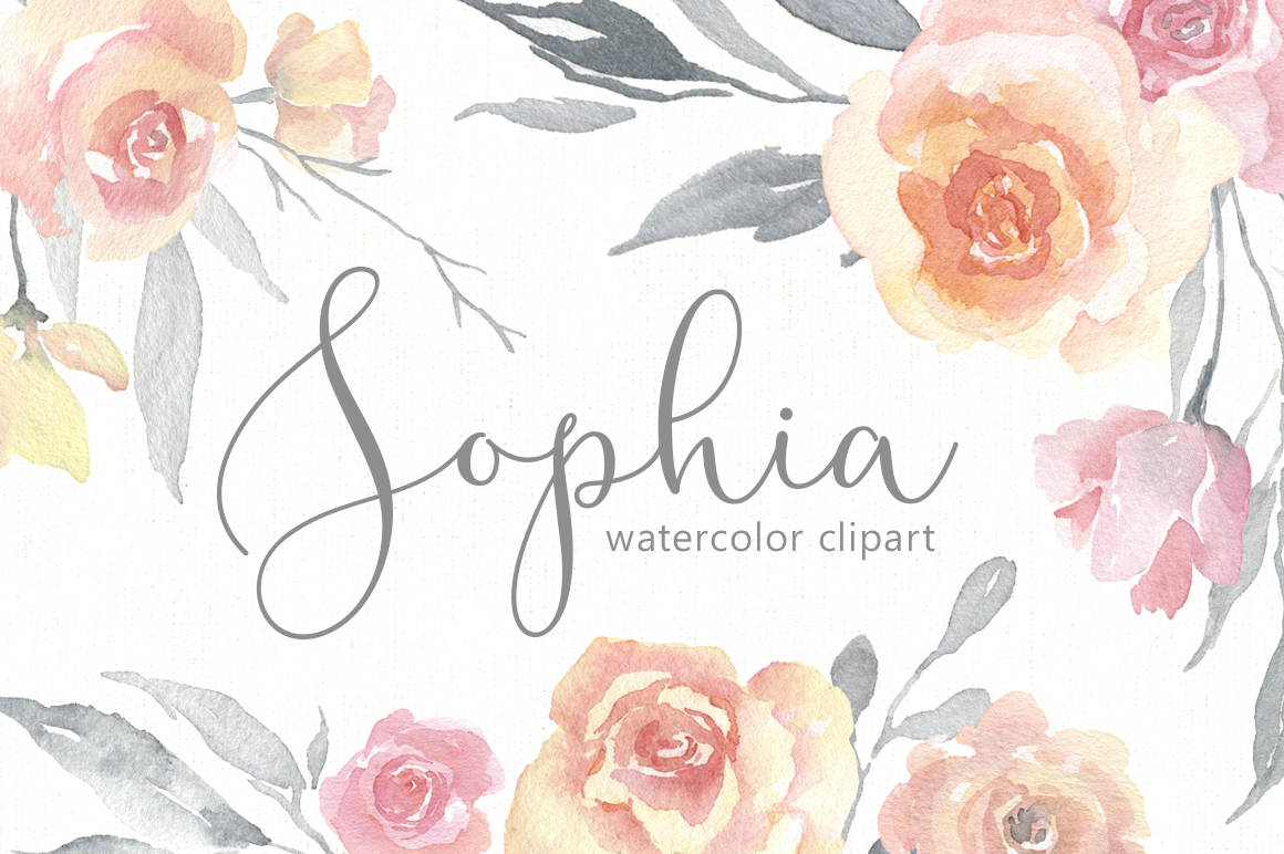 Light Gentle Watercolor Pink Flowers Roses Png