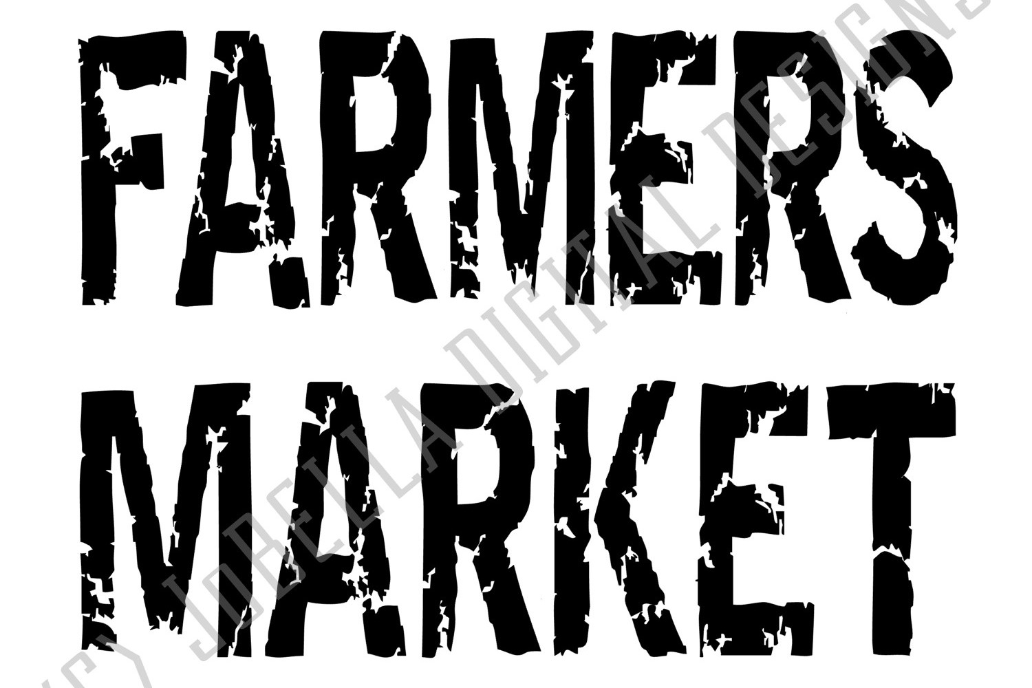 Farmers Market SVG and Printable-Distressed Farmhouse Design example image 2