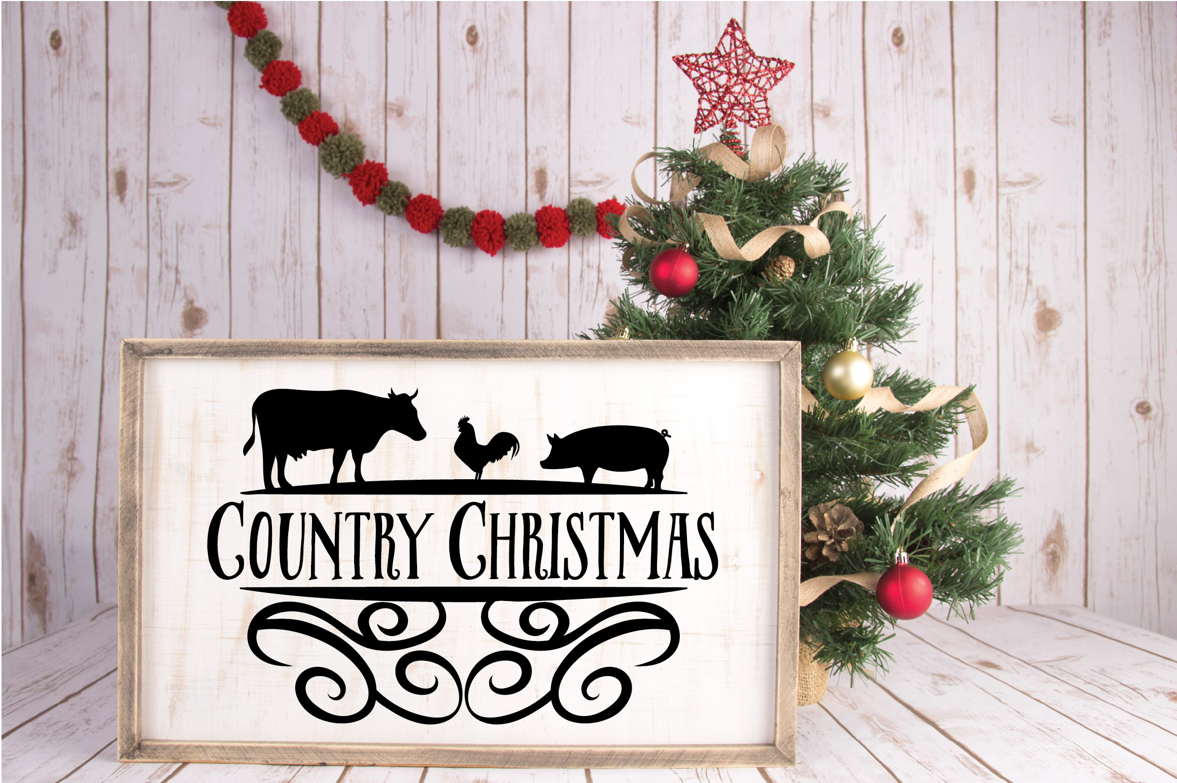 Christmas SVG Cut File - Country Christmas SVG DXF PNG EPS example image 4