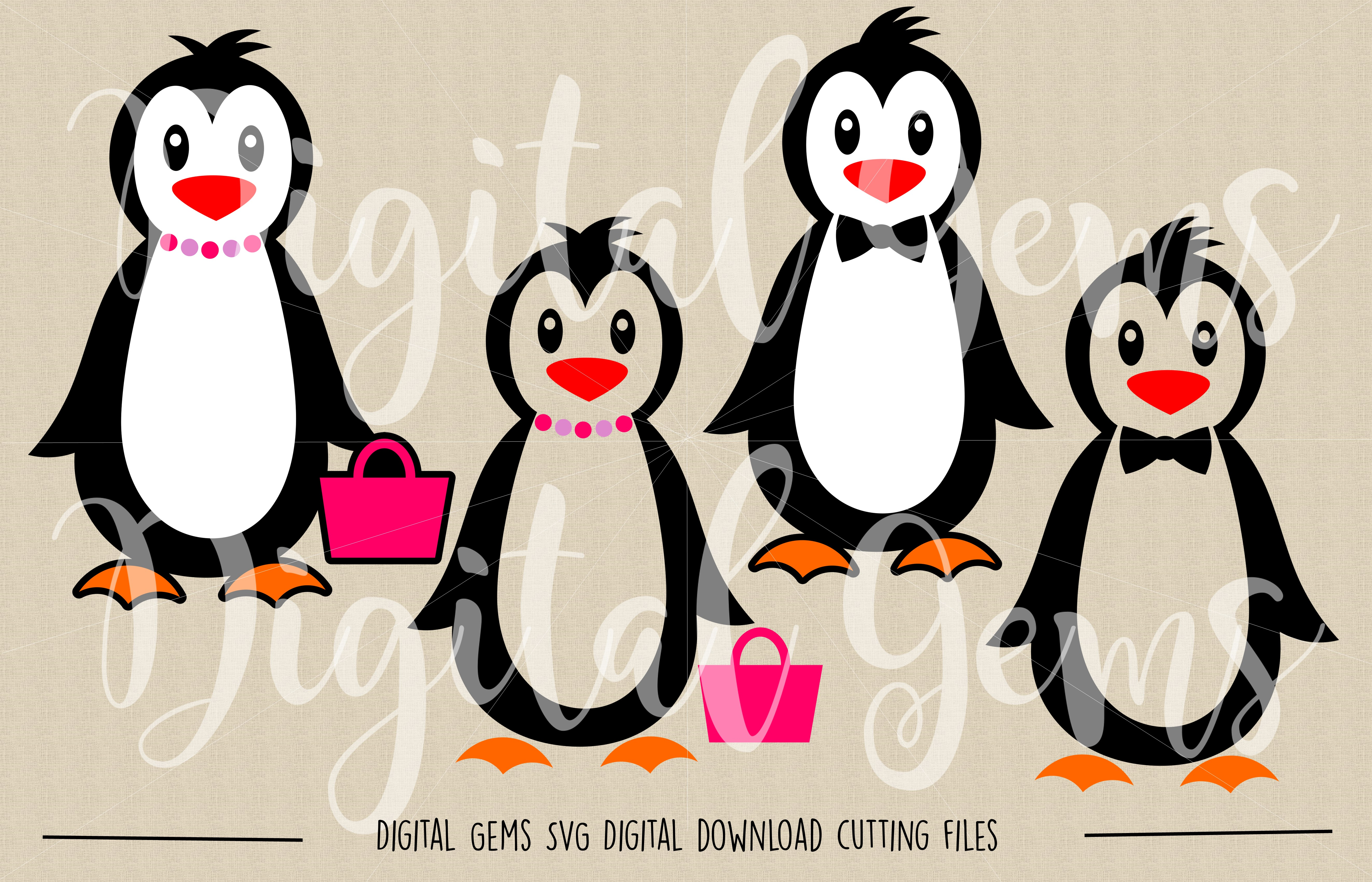 Penguin SVG / PNG Files example image 2