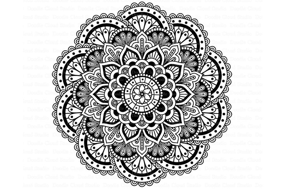 Mandala SVG DXF, Mandala Drawing, Mandala SVG Files