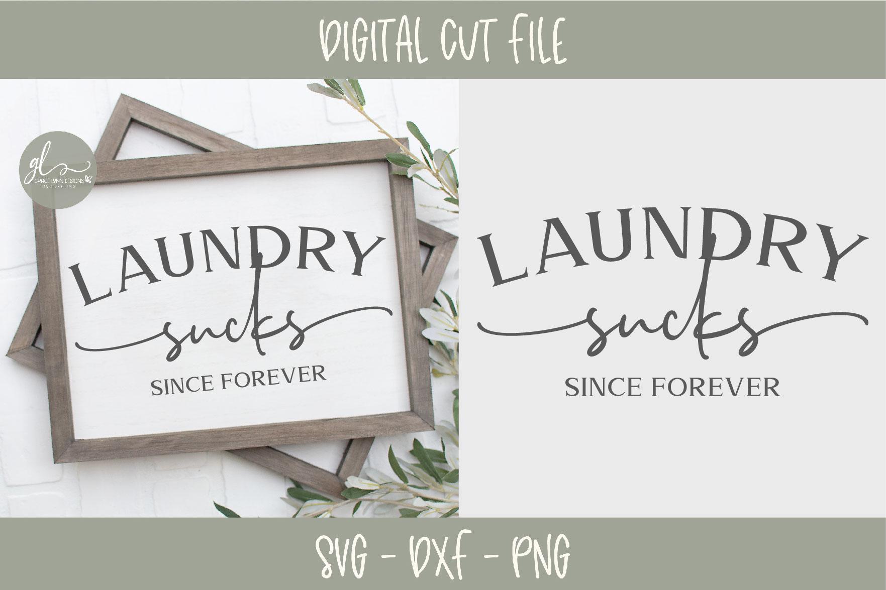 Laundry Sign Bundle - 20 Designs - SVG Cut Files example image 3