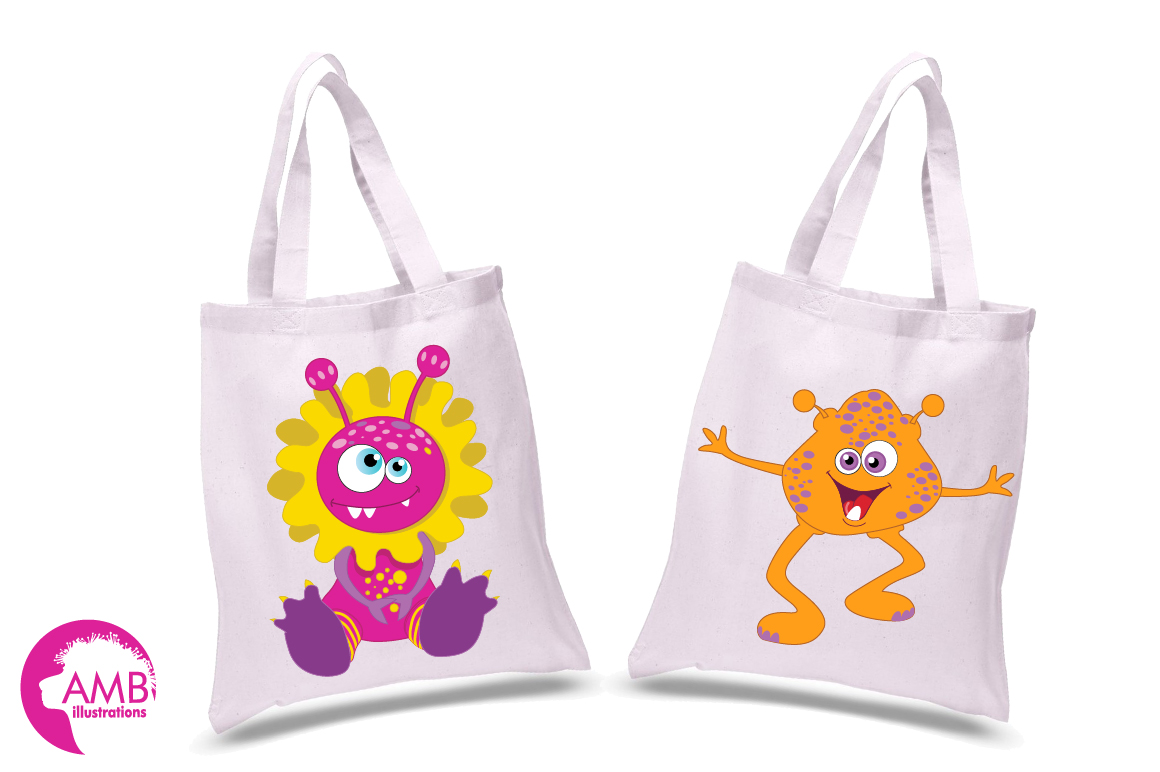 Mini monsters, cute monsters clipart, graphics and illustration AMB-552 example image 4