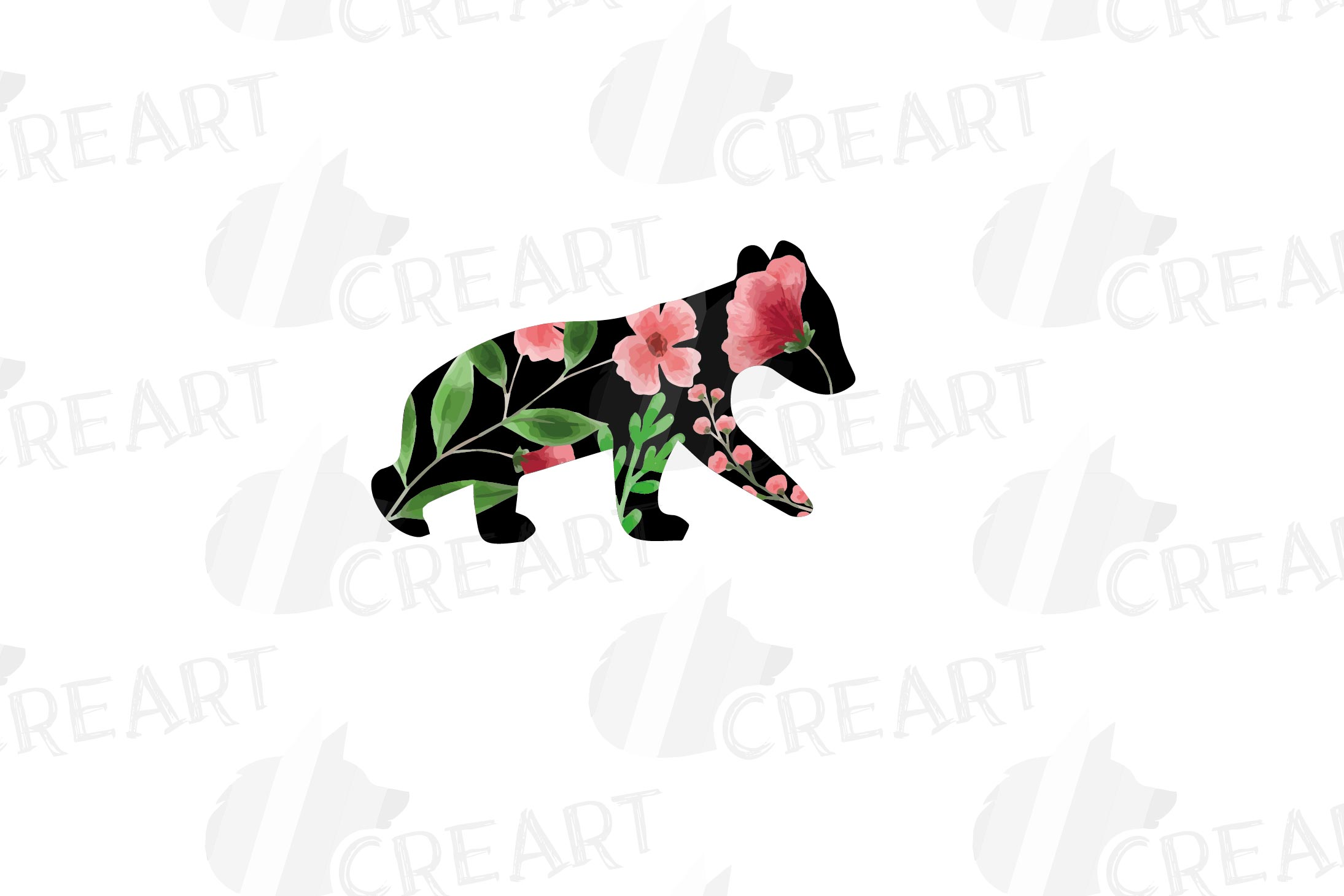 Floral bear family, sister, brother, baby, papa and mama example image 7