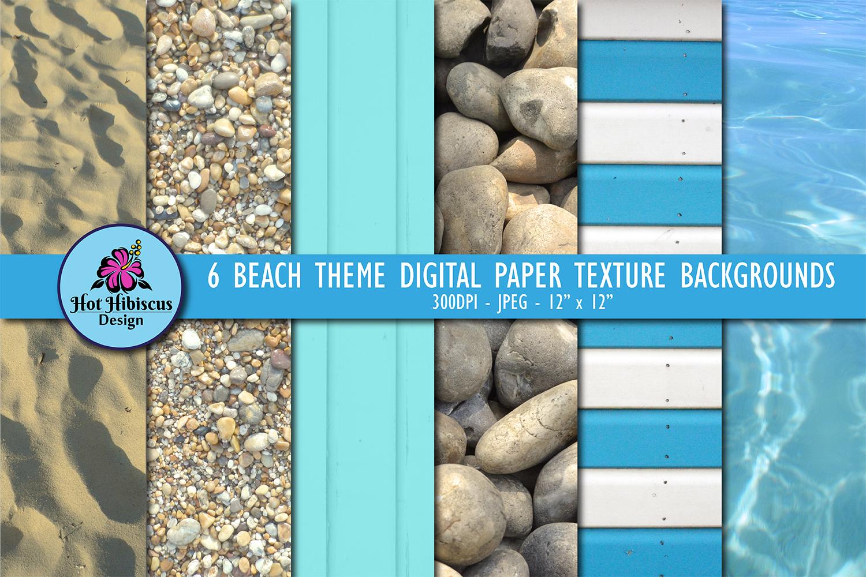 Wooden Beach Hut Stripes Sand Pebbles Water Textures Bundle example image 1