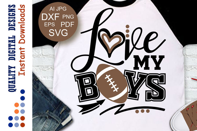 Football SVG Love my Boys example image 1