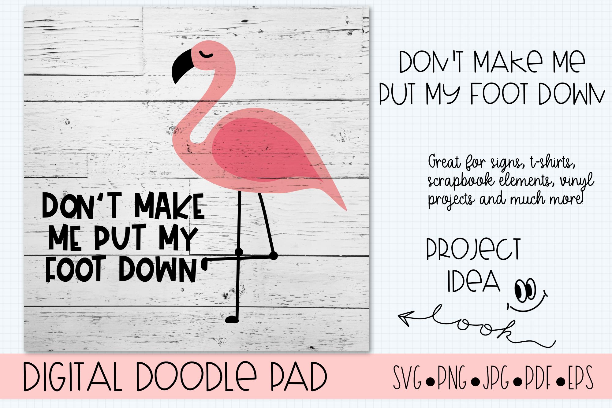 Flamingo SVG, Funny Cut File, Cricut & Silhouette Cut Files example image 3