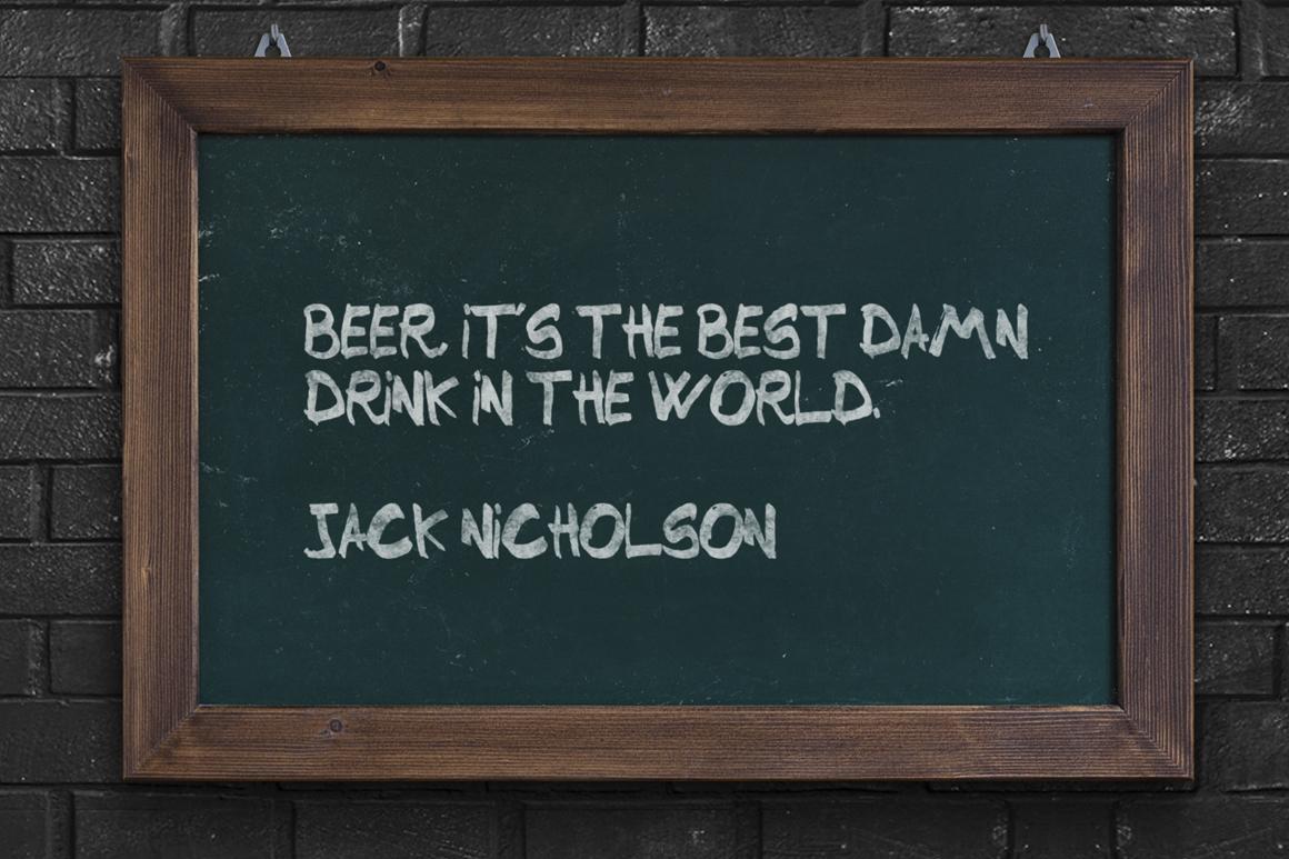 Beer Script Typeface example image 3